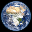 Stock Photo: Rendered three dimensional earth