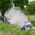 Постер, плакат: Rally car race in 71st Rally poland in Mikolajki Poland
