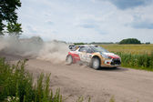 Rally car race in 71st Rally poland in Mikolajki - Poland — Photo