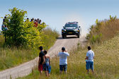 Rally car race in 71st Rally poland in Mikolajki - Poland — Stock Photo