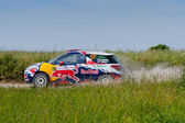 Rally car race in 71st Rally poland in Mikolajki - Poland — Stockfoto