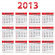 Stock Vector: Calendar for 2013
