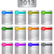 Calendar for 2013 year — Vettoriali Stock
