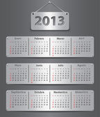 Calendar for 2013 in Spanish — Stock Vector