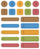 Numbered design templates — Stock Vector