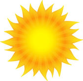 Beautiful sun — Stock Vector