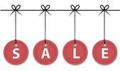 Kerstmis verkoop etiketten — Stockvector