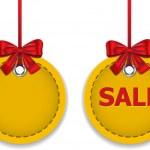 Christmas ball labels — Stock Vector