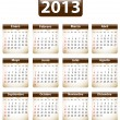 2013 Spanish calendar — Stock Vector #16822209
