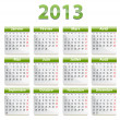 2013 calendar in French — Stock Vector #18331485