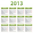2013 calendar in French — Stock Vector