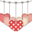 Stock Vector: Valentine hearts