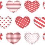 Valentine heart set — Stock Vector