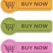 Buy Now buttons — Imagen vectorial