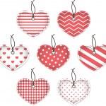 Pink textured hearts — Stock Vector