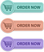 Order now buttons — Stock Vector