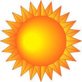 Sun with sharp rays — Stock Vector