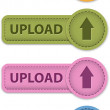 Stock Vector: Upload button