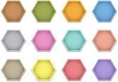 étiquettes en cuir polygone — Vecteur