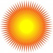 Stock Vector: Sun with sharp lines