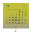 Calendar for May 2014 — Stock Vector