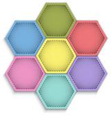 Hexagon flower — Stock Vector
