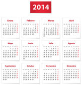 2014 Spanish calendar — Stock Vector