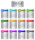 2014 calendar — Stock Vector