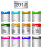 Spanish calendar 2014 — Stock Vector