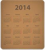 2014 German calendar — Stock Vector