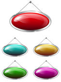 Oval tablets — Stock Vector