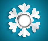 Snowflake with bauble — Stok Vektör