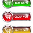 Shopping buttons — Stock Vector