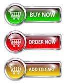 Shopping buttons — Stock Vector