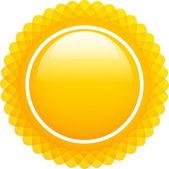 Glossy sun with rays — Stockvector
