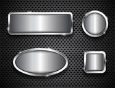 Metallic buttons — Stock Vector