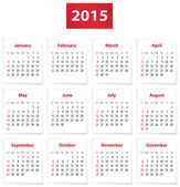 2015 English calendar — Stok Vektör