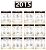 2015 English calendar — Stockvektor