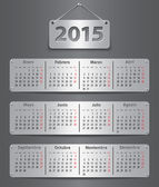2015 Spanish calendar — Vector de stock