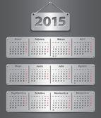 2015 Spanish calendar — Stock Vector