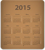 2015 French calendar — Stockvektor