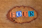 Four - text — Stockfoto