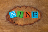 Nine - text — Foto Stock