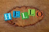 Colorful letters - hello — Stock Photo