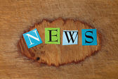 Colorful letters - news — Stock Photo