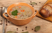 Soup with buckwheat and vegetables. — Stock Photo