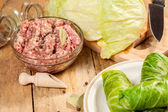 Raw cabbage rolls. — Stock Photo