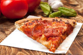 One slice of pizza. — Stock Photo