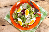 Salad with egg, radish and cucumber. — Stock Photo