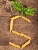 The letter S with pasta — Foto de Stock